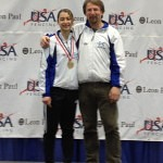 Gold Medalist Amanda Sirico with DCFC Head Coach Janusz Smolenski at the Junior Olympics