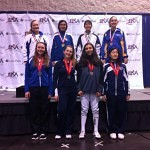 DCFC Member Marta Lasota (back row, far left) wins silver in U14 Women's Sabre