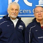 DC Fencers Club members medaled for Team USA at Vet Worlds last weekend.  From L-R, Kaz Campe, Jim Adams, and Valerie Asher